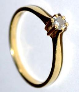 Gouden ringen repareren-Chaton zetting